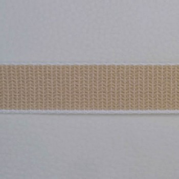 Gurtband 22 mm beige Meterware